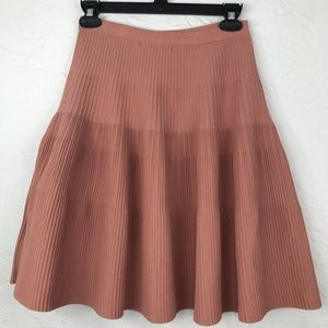 Ark&Co.micro pleat salmon color stretch skirt-M